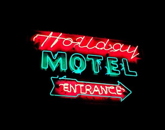 Holiday Music Motel: Sign Photo