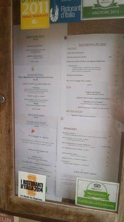 Ristorante La Canonica: Il menu