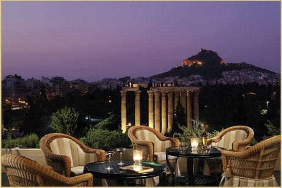 Royal Olympic Hotel: View from the Rooftop Restaurant