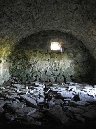 Alvastra Klosterruin: Ett av rummen man kunde gå in i som var bevarat
