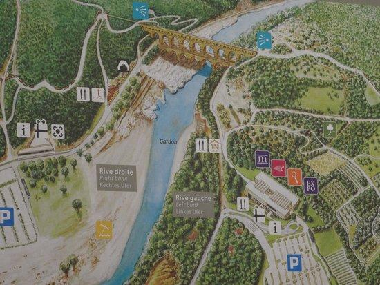 Pont du Gard : Site plan