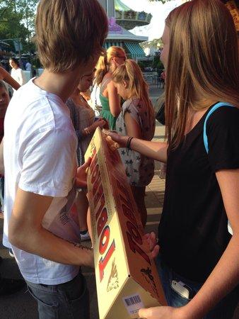 Lisebergs Nojespark: 2kg of toblerone!