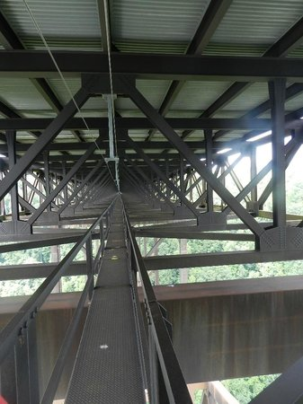 Bridge Walk- New River Gorge Bridge: a view of the catwalk