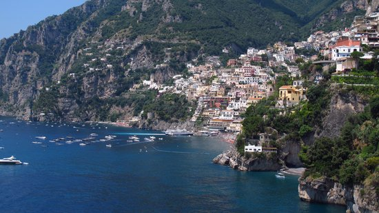 Villa Tre Ville: Beautiful view of Positano from the terrace