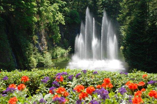 Butchart Gardens: Fountain at Butchart