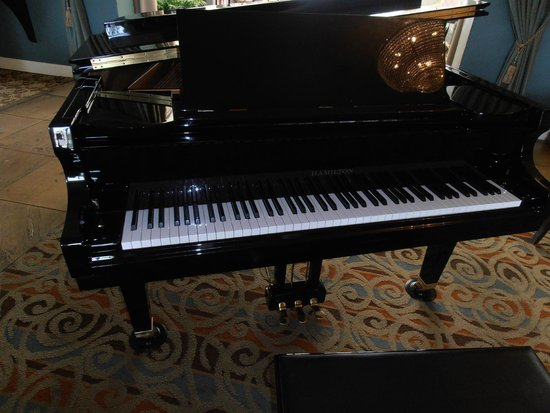 The Lafayette Hotel, Swim Club & Bungalows : Nice piano in the hall