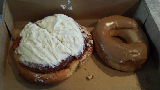 Hot Lava: Cinnamon Roll & Maple Doughnut