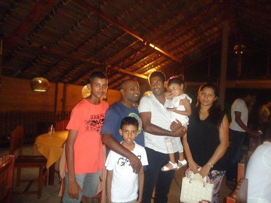 Tartaruga Hotel & Beach Restaurant: SL cricket team member at tartaruga