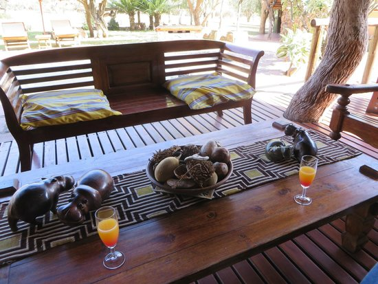Blyde River Canyon Lodge: welcome drinks