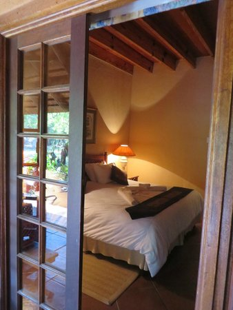 Blyde River Canyon Lodge: french doors to open