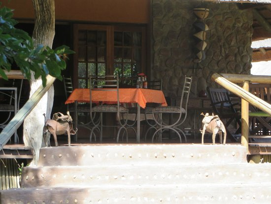 Blyde River Canyon Lodge: patio dining