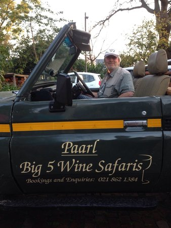 De Leeuwenhof Hotel/Guesthouse: Since June 2014 you can take a Wine Safari or visit the surroundings with this special Jeep whic
