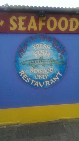 Out of the Blue Seafood: Great spot,  but stick to the early bird menu!
