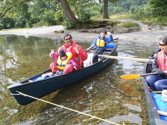 canoeing on ullswater ideal for all ages picture of. Black Bedroom Furniture Sets. Home Design Ideas