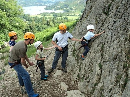 family rock climbing ullswater valley picture of eden. Black Bedroom Furniture Sets. Home Design Ideas