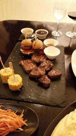 KOBE Steak Grill Sushi Restaurant Vaclavske nam.: The kobe mix grill menu