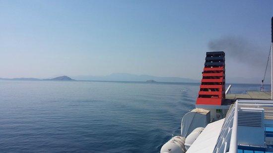 Hellenic Seaways - view from vessel