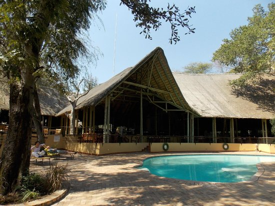 Chobe Safari Lodge: Vista de la zona común