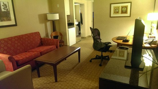 Embassy Suites by Hilton Atlanta - at Centennial Olympic Park: From the entrance...living/work space