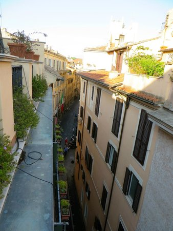 Hotel Adriano: views from our room with a terrace
