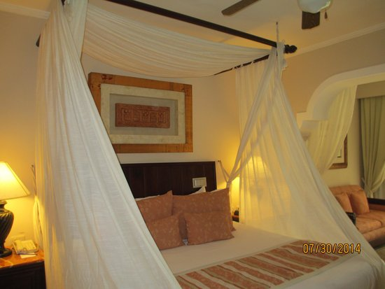 Paradisus Palma Real Golf & Spa Resort: A picture of the king sized bed.