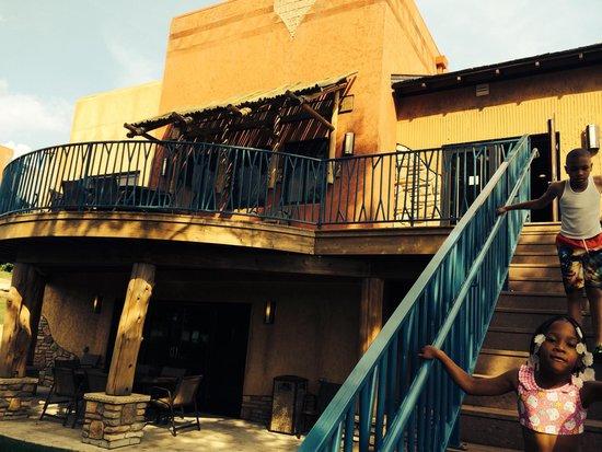 Kalahari Resorts & Conventions: Back patios at our entertainment villa..