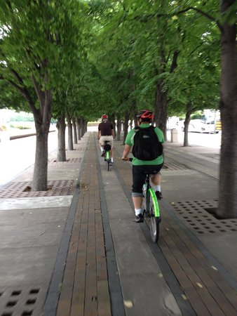 Urban AdvenTours: Most riding is done on bike paths