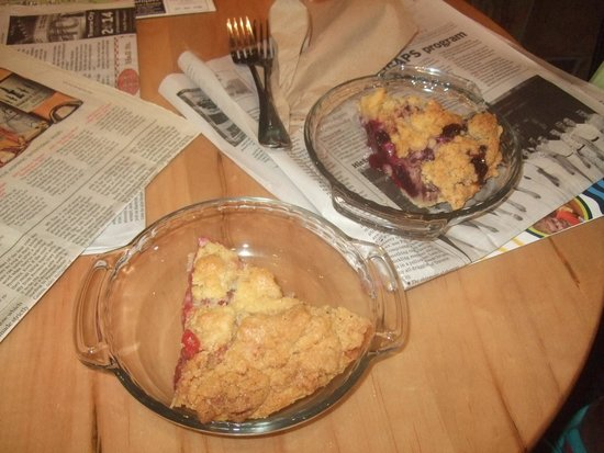 Grand Traverse Pie Co.: yum!!! Cherry crumb and blueberry