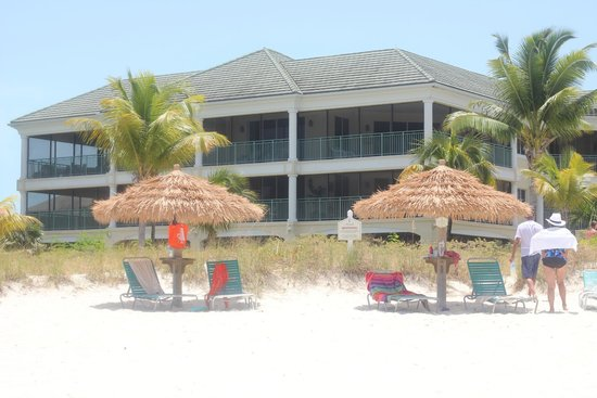 The Sands at Grace Bay: View from the beach back towards Building 3