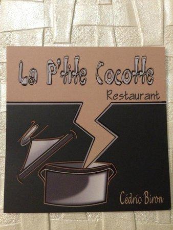 La P'tite Cocotte : La carte