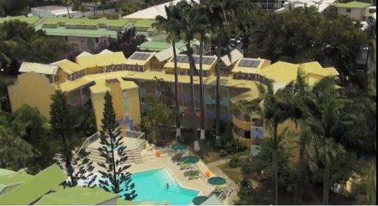 Canella Beach Hotel-Restaurant : Vue aérienne de l'hôtel Canella Beach