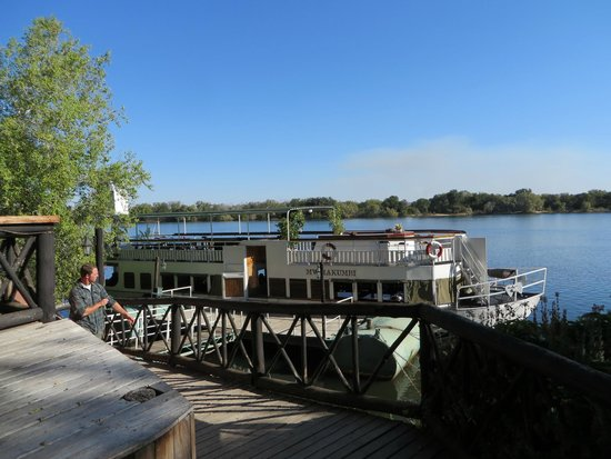 Victoria Falls Waterfront: boat dock next to hotel