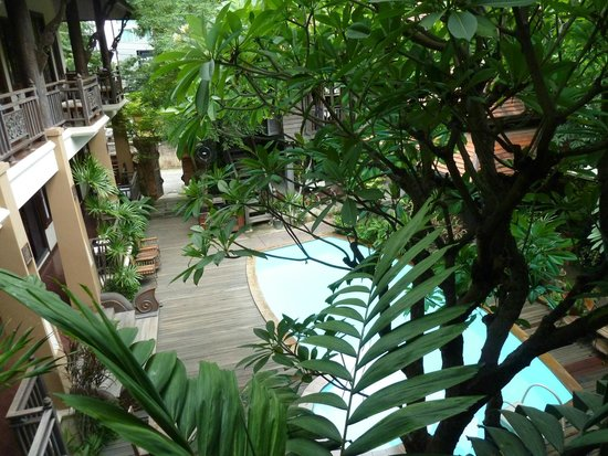 Amata Lanna: View from Bedroom 6 over pool and courtyard