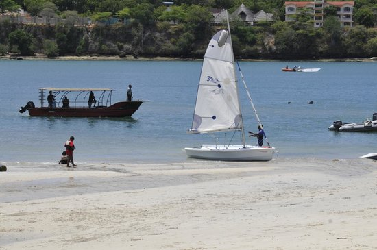 Beautiful sailing conditions in Kilifi creek