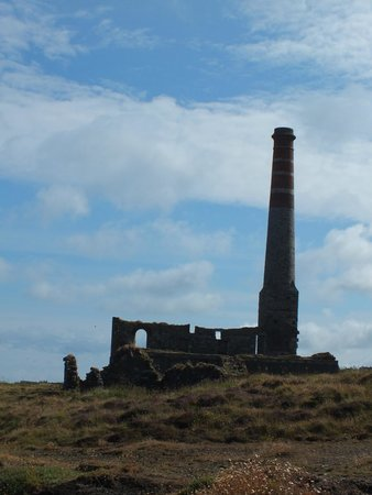 Levant Mine and Beam Engine: In silhouette