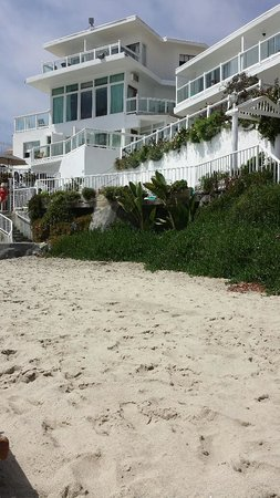 Capri Laguna On The Beach : Beach View of Hotel!  Super Cute! Super Quaint! Just AWESOME!
