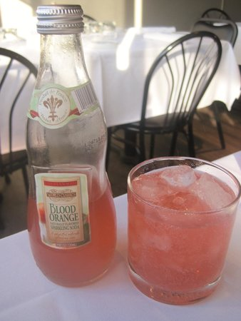 Pomir Grill: Blood orange European sparkling soda - not too sweet and vey refreshing!