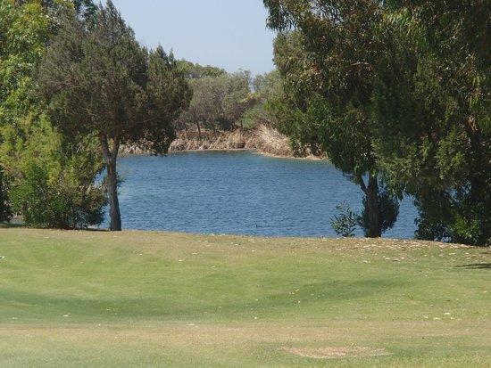 Sofitel Essaouira Mogador Golf & Spa : Water hazard on 18th