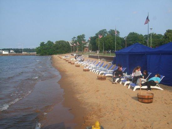West Bay Beach, a Holiday Inn Resort: one side of the hotel's beach