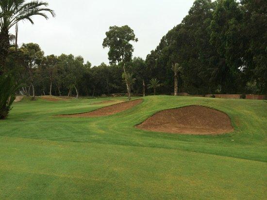 Golf du Soleil : typical fairway and sand traps