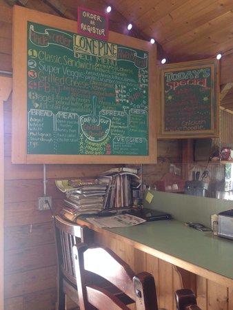 Orondo, WA: Sandwich menu