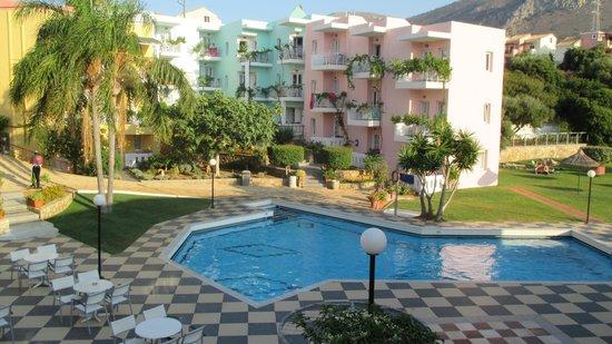 Bellos Hotel Apartments : balcony view room 22