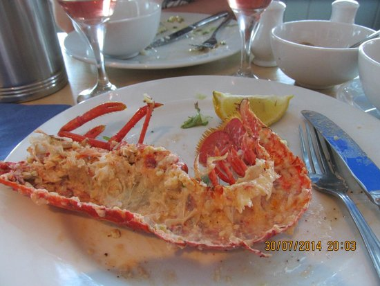 The Beach Restaurant: Lobster thermidore