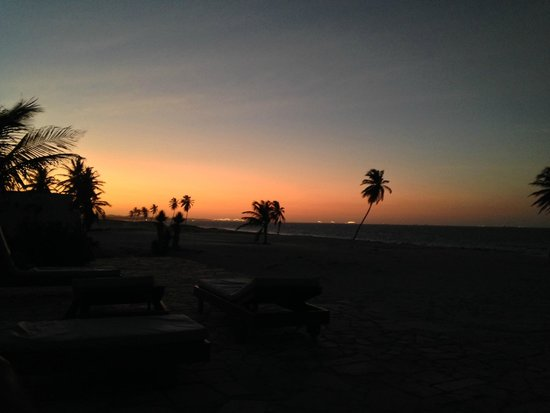 Windtown Beach Hotel: por do sol visto do deck