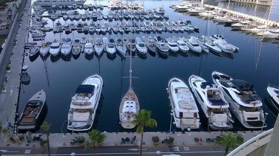 Riviera Marriott Hotel La Porte de Monaco : Yacht Watching