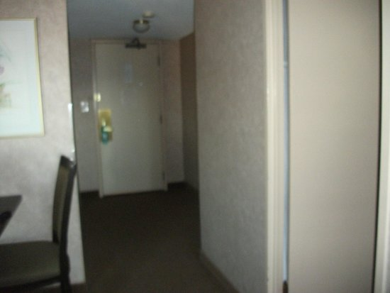 Coast Plaza Hotel & Suites: View of entry way into room