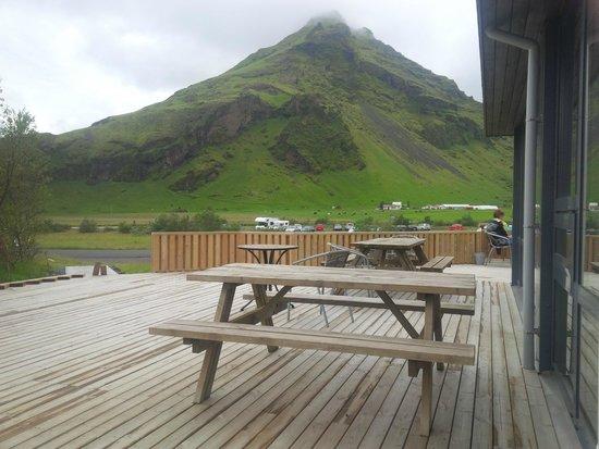 Hotel Skogafoss: Terrasse du resto