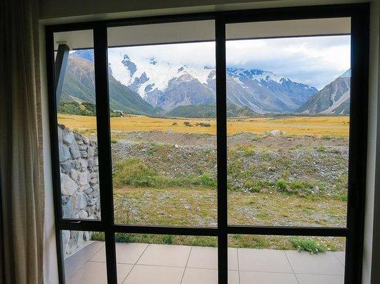 Aoraki Court Motel at Aoraki/Mt Cook Village : View through the sliders