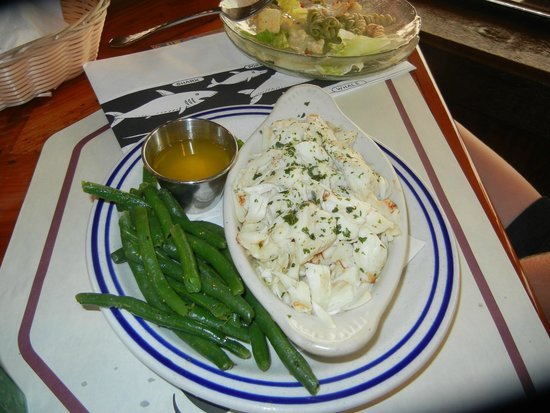 Ocean City Fish Company: Broiled Backfin CrabMeat Dinner