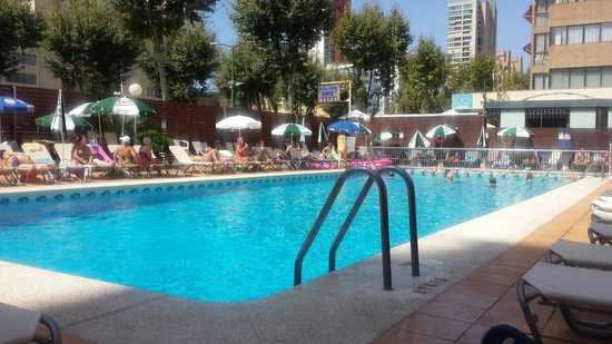 Riudor Hotel Benidorm: Our spot at pool wheres the joke rat lol
